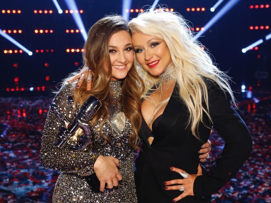 Christina Aguilera y Alisan Porter en 'The Voice'