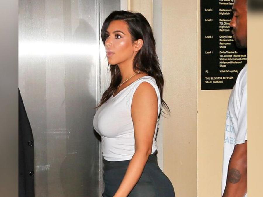 Kim Kardashian lució almohadillas en su derrière