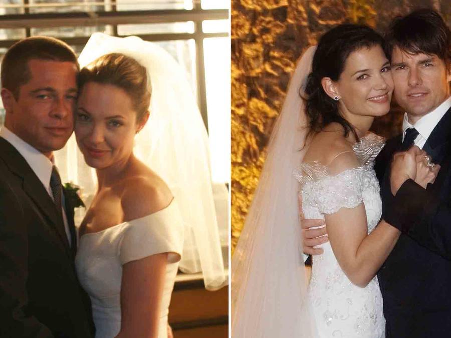 Angelina Jolie y Brad Pitt, Katie Holmes y Tom Cruise