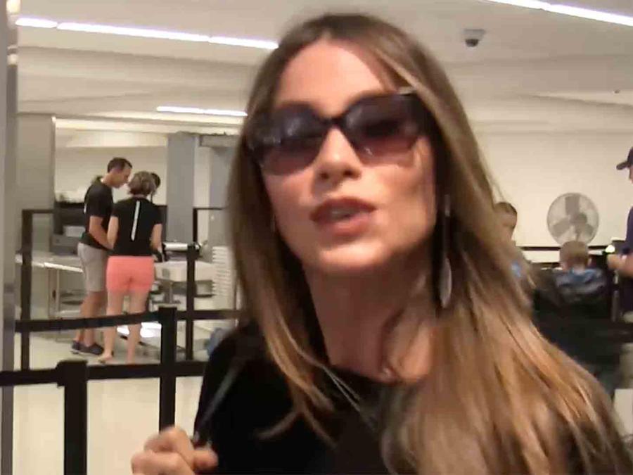 Sofía Vergara en el aeropuerto de Los Angeles