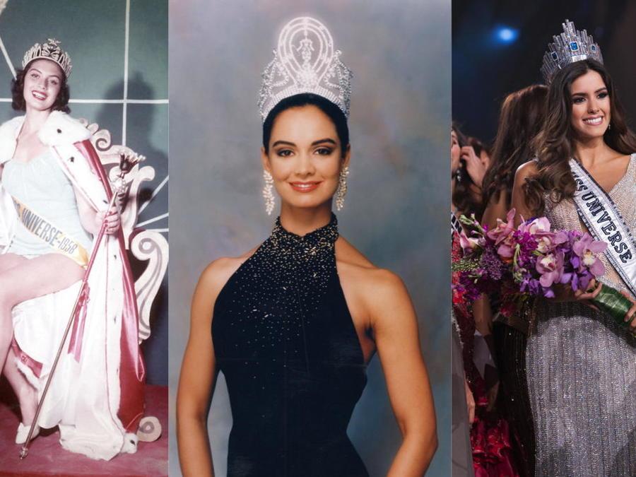 Miss Perú, Miss México y Miss Colombia en Miss Universo
