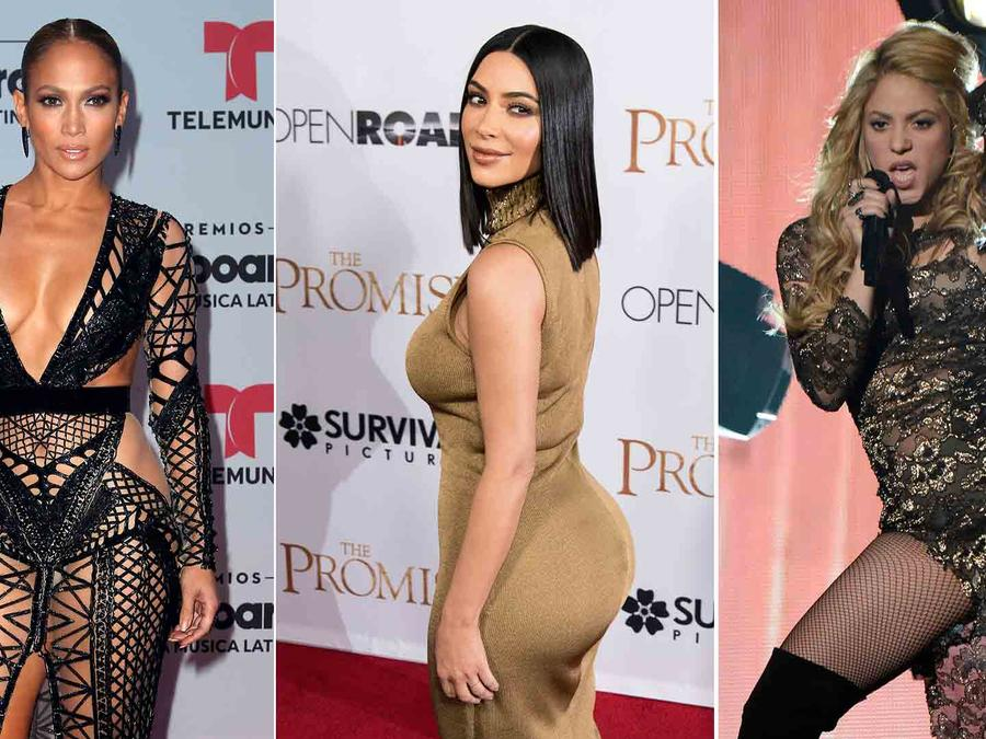 Jennifer Lopez, Kim Kardashian y Shakira