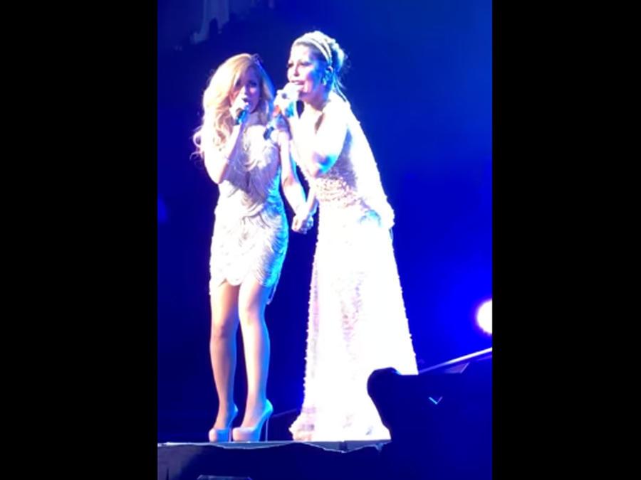 Gloria Trevi y Alejandra Guzmán en concierto