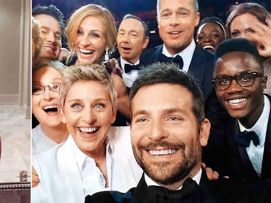 Kim Kardashian y Ellen DeGeneres selfie