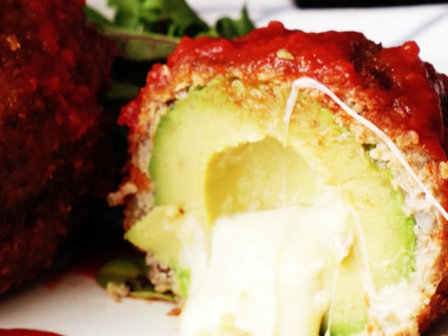 Fried Avocado with Cheese and Pork Recipe