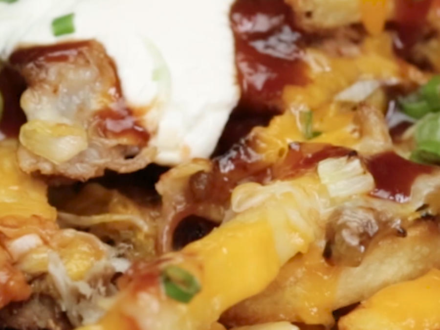 BBQ Pork with Cheese and Sour Cream Recipe