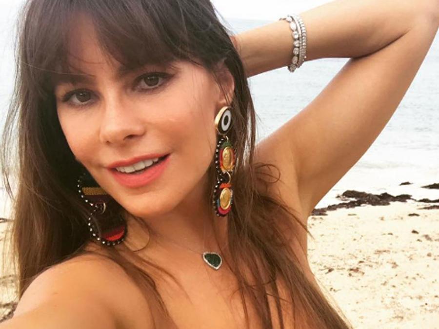Sofía Vergara, selfie en la playa