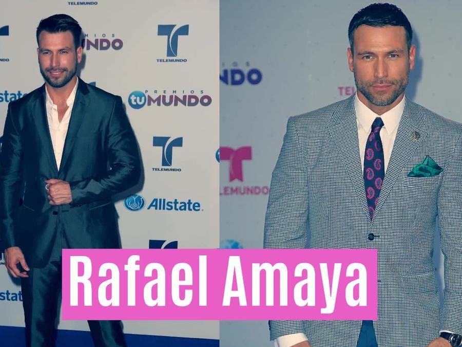Rafa Amaya en alfombra Premios Tu Mundo