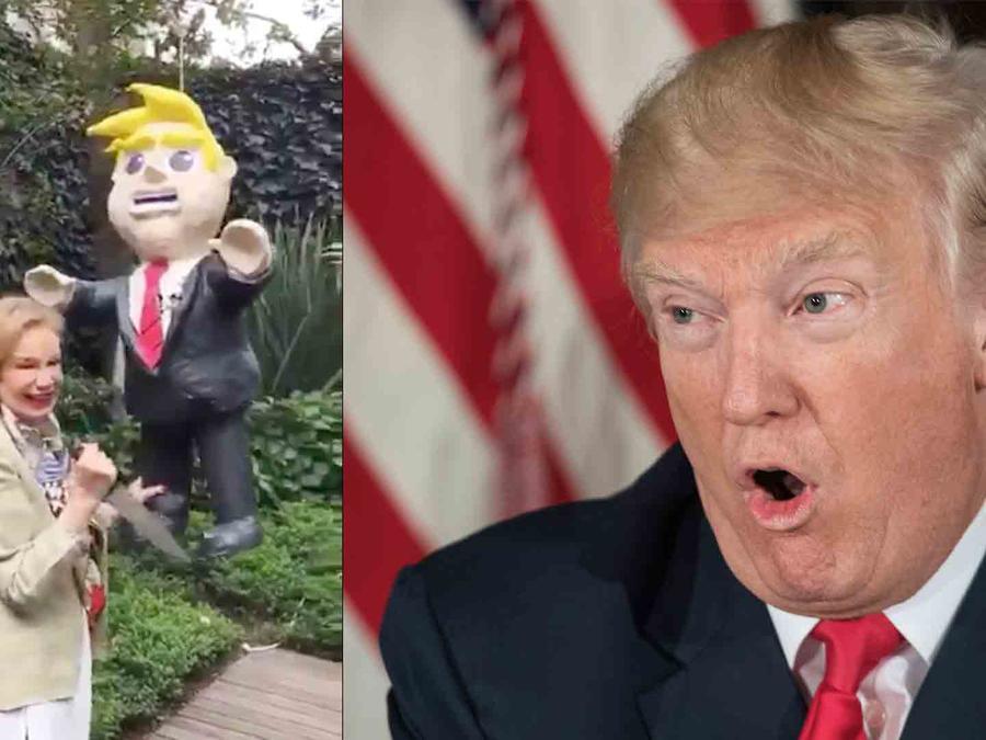 Trump, piñata, Guadalupe Loaeza