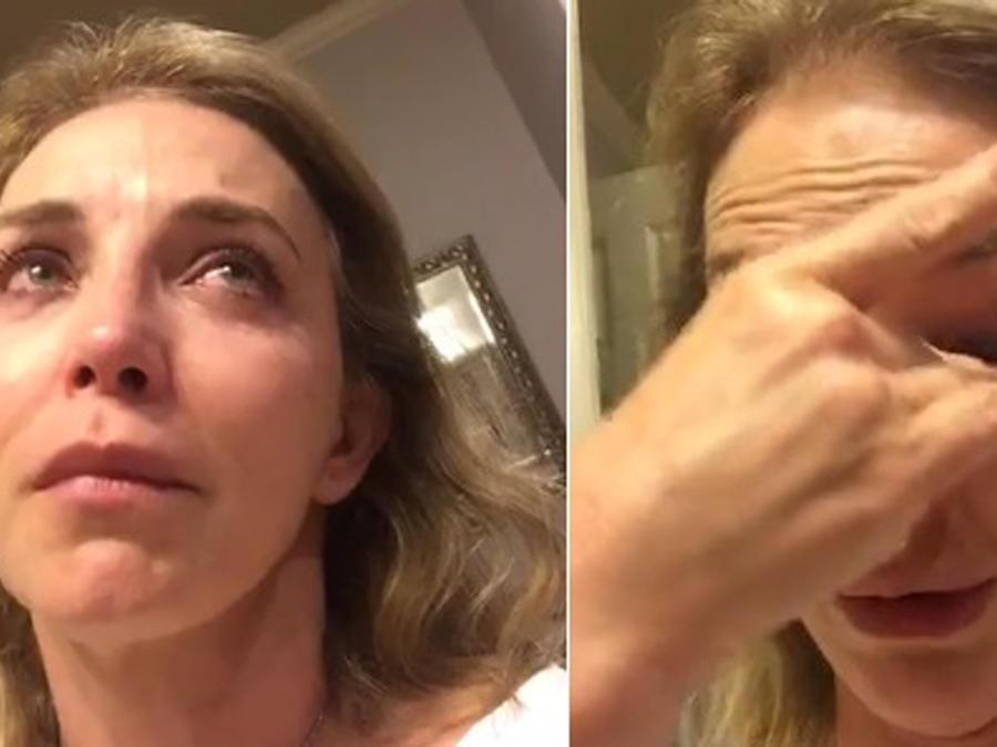Laura Flores llorando