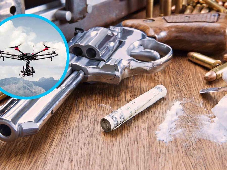 Dron y cocaína