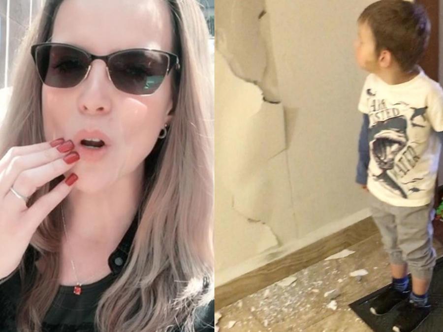 Maritza Rodríguez muestra los daños en su hogar por el sismo