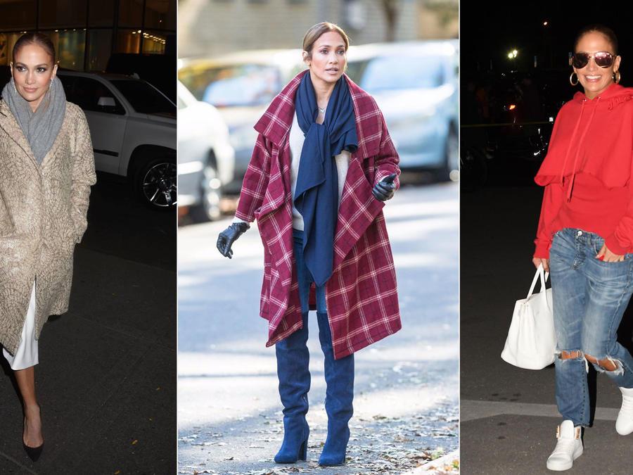 Looks de otoño de Jennifer Lopez