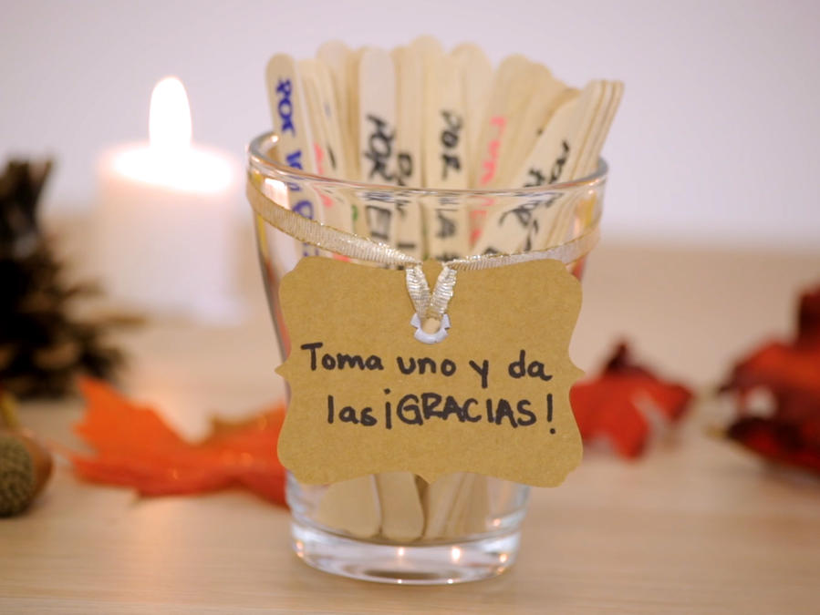 Made in casa: frasco de agradecimiento para Thanksgiving