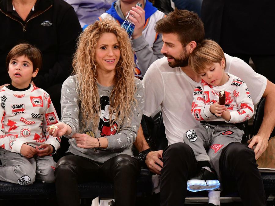 Shakira con su familia