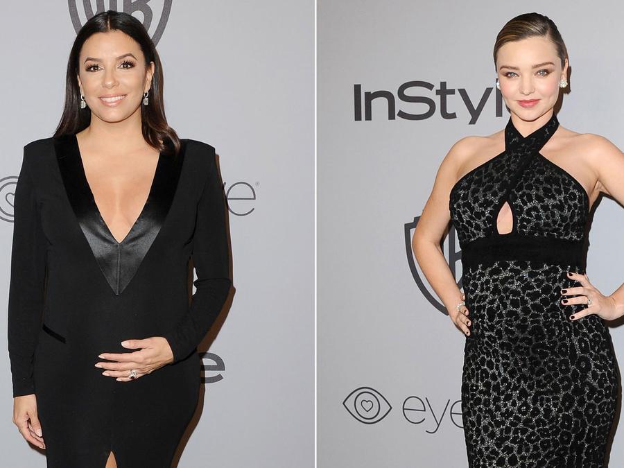 Eva Longoria y Miranda Kerr en los Golden Globes 2018