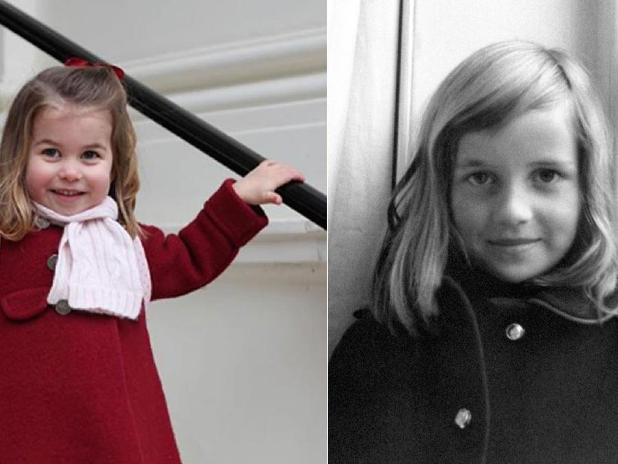 Princesa Charlotte y princesa Diana de Gales