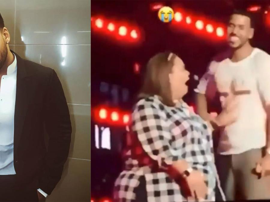 Romeo Santos Lets Fan Touch His Private Parts