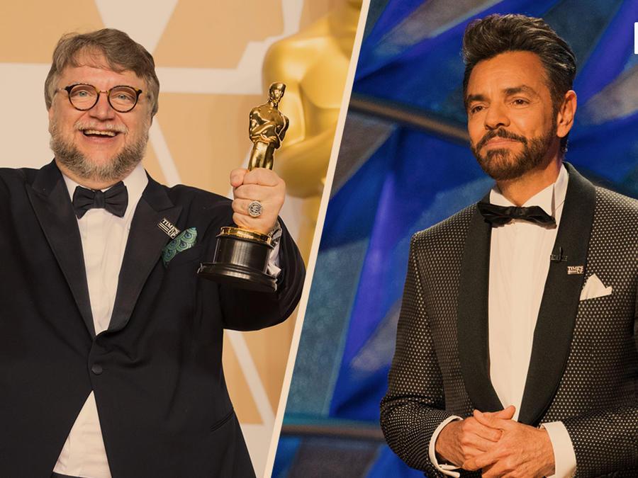 Guillermo del Toro, Eugenio Derbez en los Oscars 2018