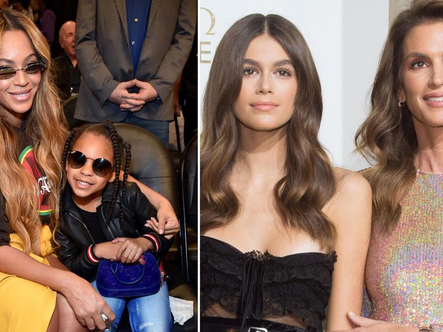 Beyoncé y Cindy Crawford con sus hijas