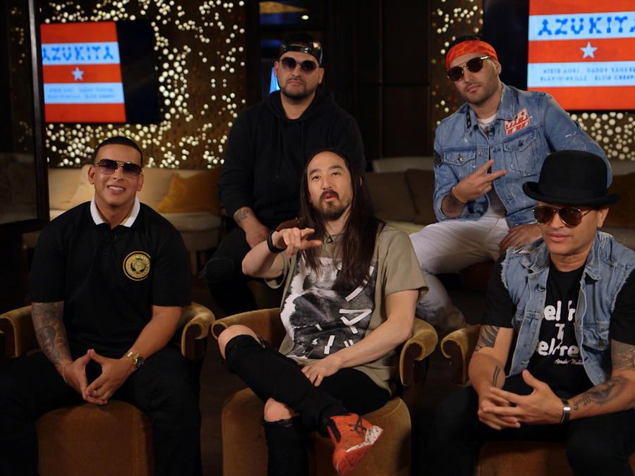 Steve Aoki, Daddy Yankee, Elvis Cresto and Play-N-Skillz