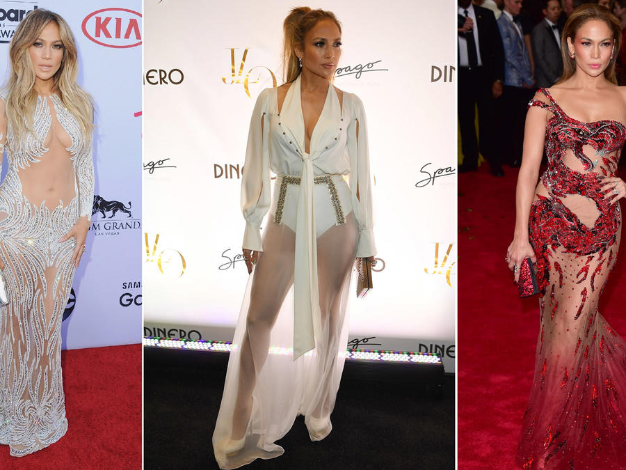 Jennifer Lopez looks de transparencias