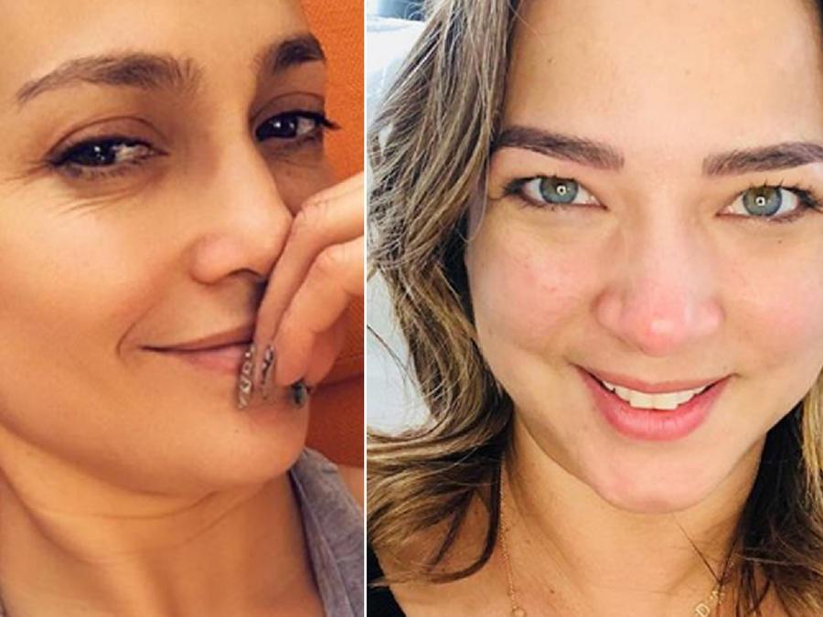 Jennifer Lopez y Adamari López sin maquillaje