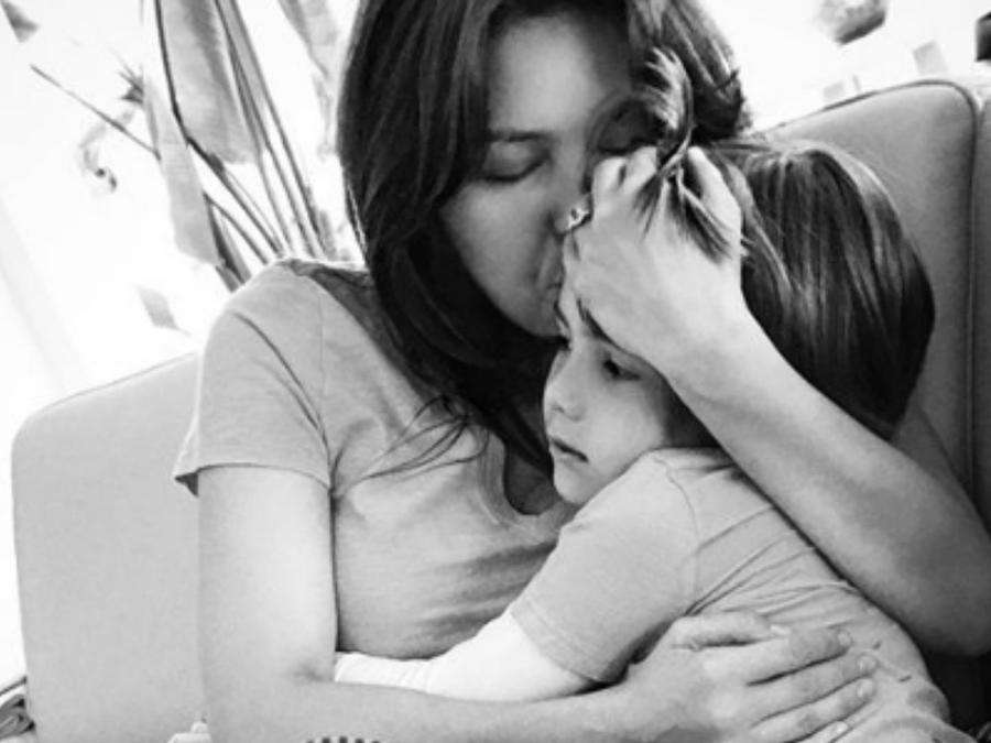 Thalía con su hijo