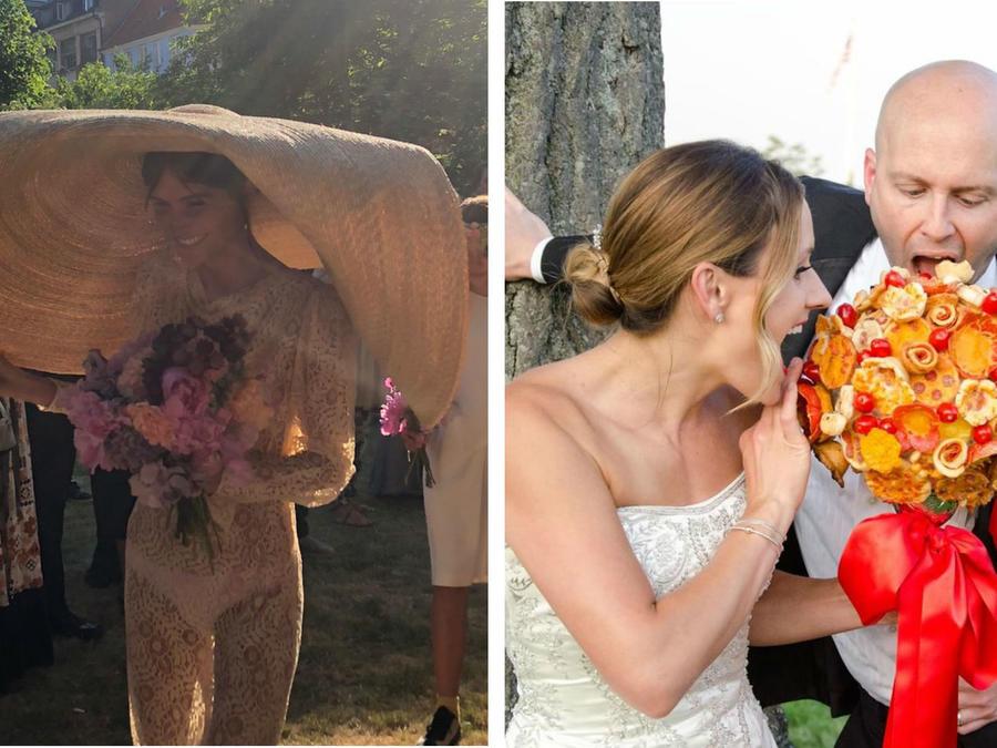 Collage tendencias raras de boda