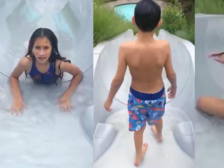 Mira a los hijos de JLo disfrutando de las vacaciones