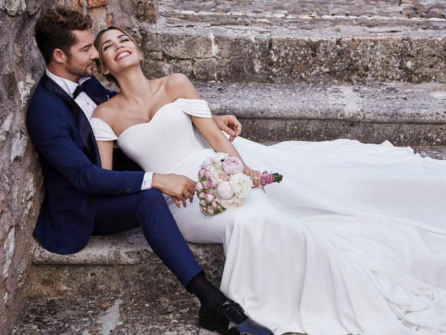 David Bisbal y Rosanna Zanetti el día de su boda