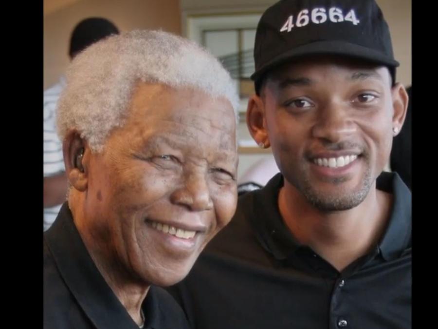 Nelson Mandela con Will Smith