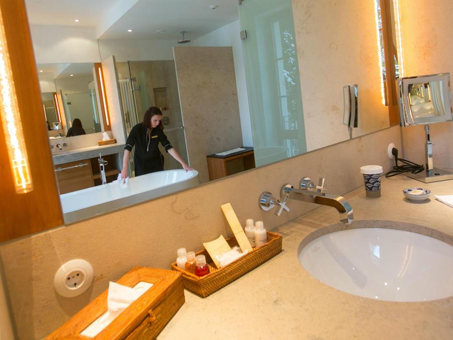 limpieza en hotel