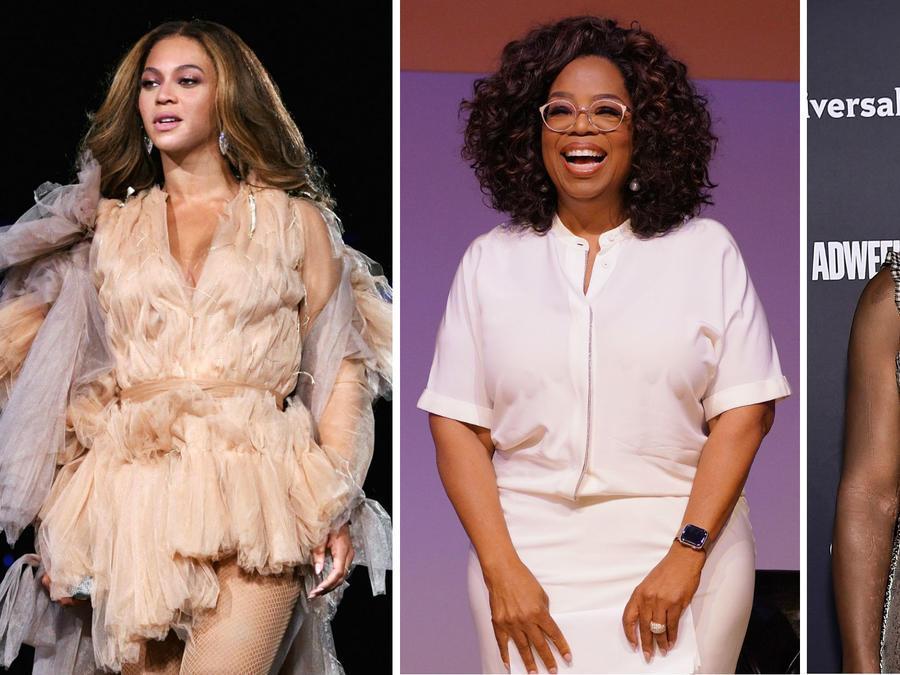 Beyoncé, Oprah Winfrey y Serena Williams