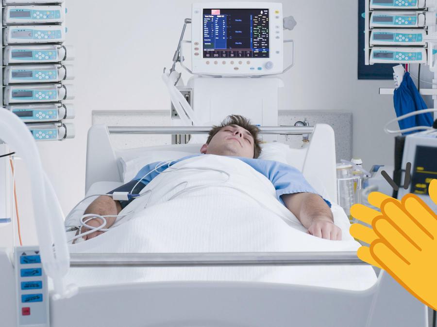 Hombre internado en el hospital