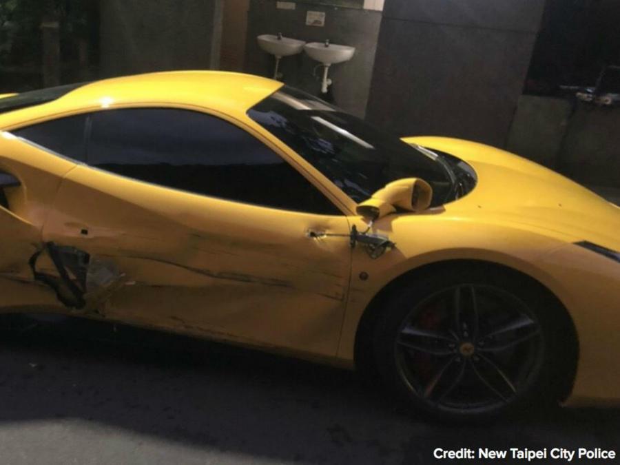 Ferrari chocado