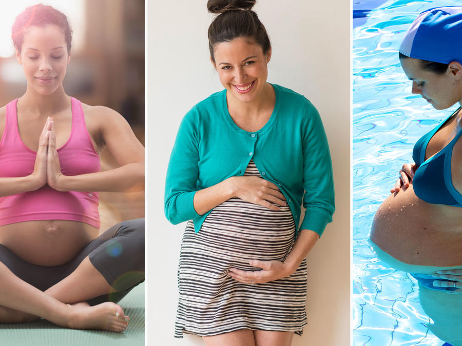 Collage mujeres embarazadas