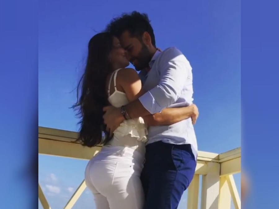 Fabián Ríos con Yuly Ferreira