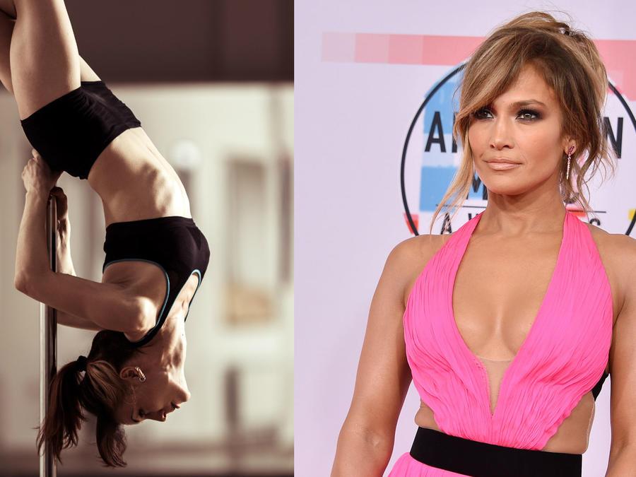 Jennifer Lopez hace Pole Dance