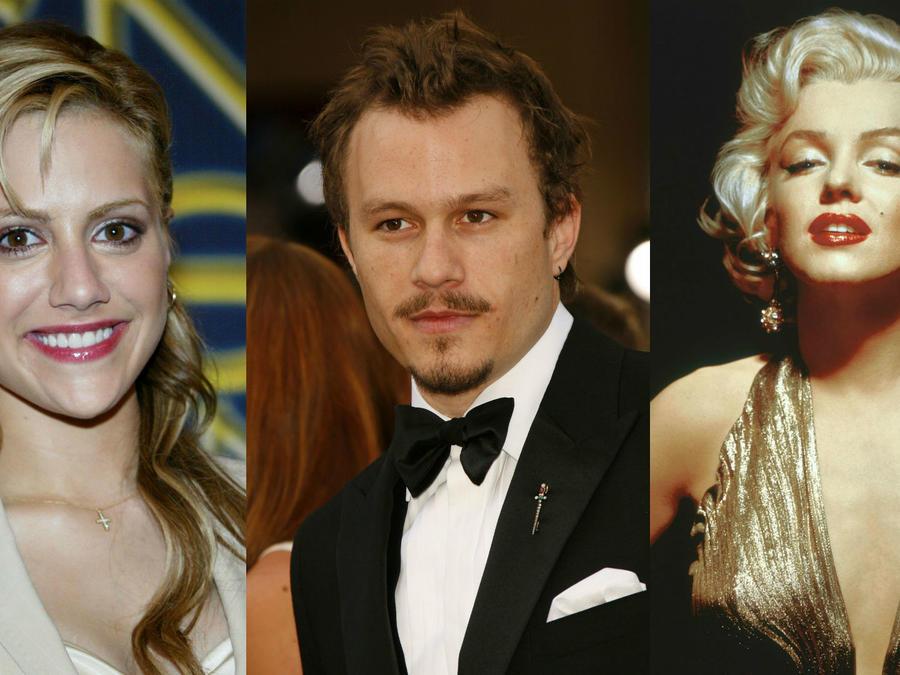 Brittany Murphy, Heath Ledger, Marilyn Monroe