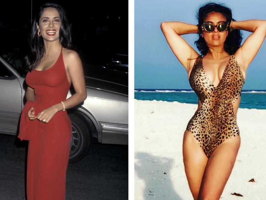 Salma Hayel antes y después