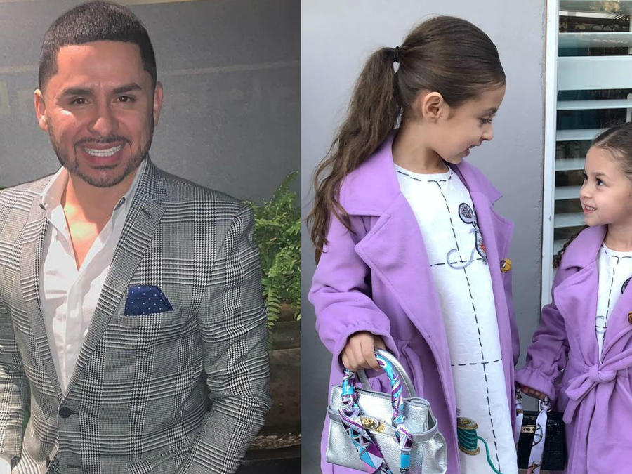 Larry Hernández y sus hijas