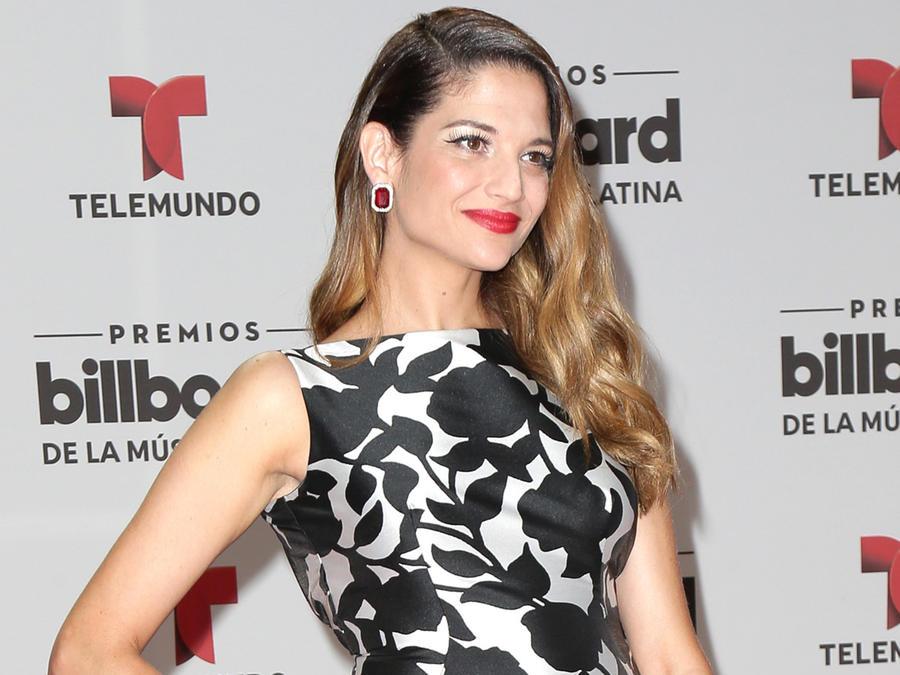 Natalia Jiménez alfombra Premios Billboard