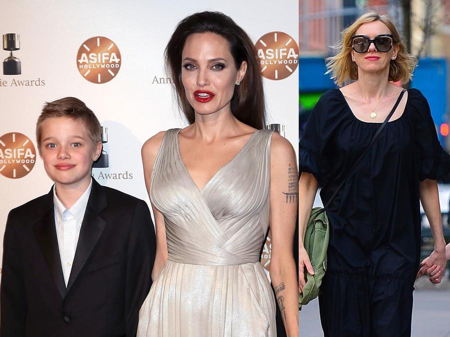 Angelina Jolie, Shiloh Jolie, Naomi Watts y su hijo Samuel