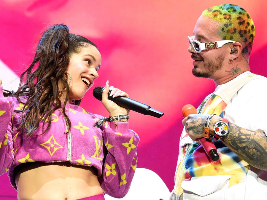 J Balvin y Rosalía en Coachella