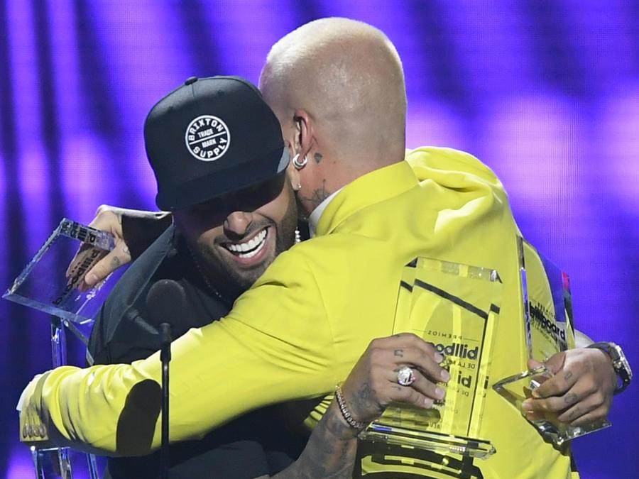 J Balvin y Nicky Jam en Premios Billboard 2019