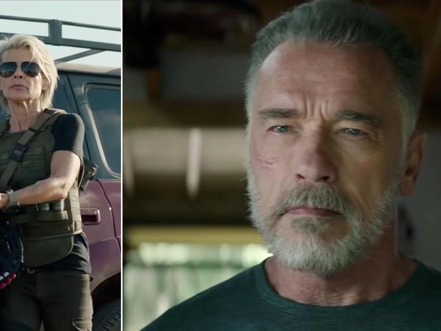 Arnold Schwarzenegger, Linda Hamilton in Terminator Dark Fate