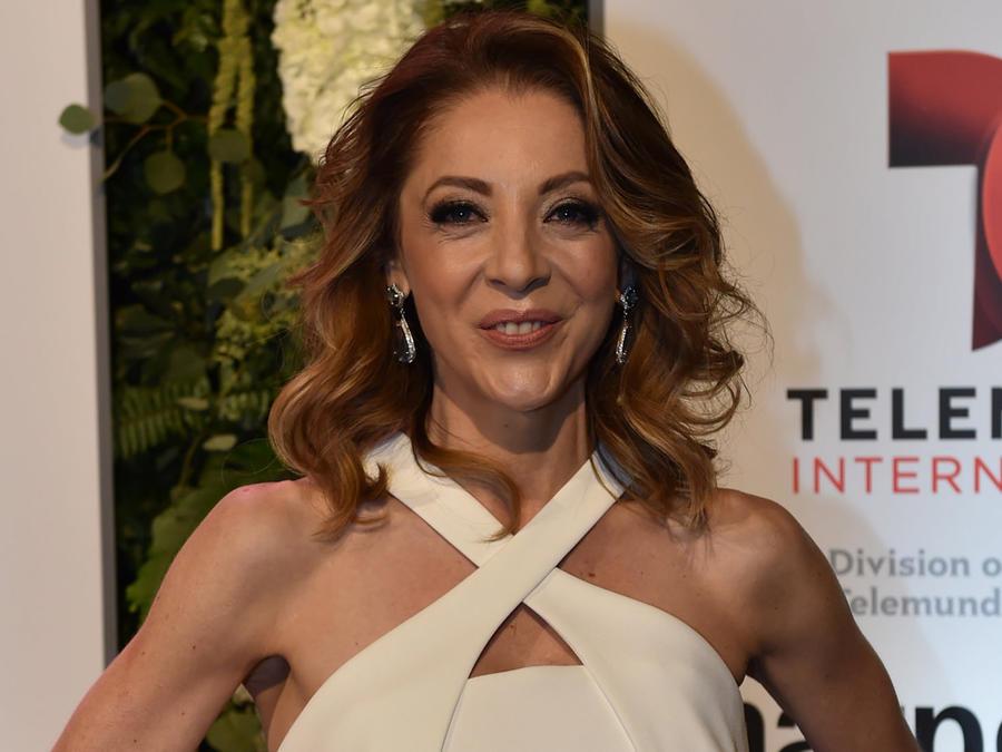 Edith González en la fiesta del Telemundo NAPTE en enero de 2016