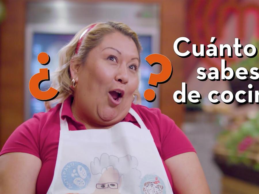 Chef James pone a prueba los conocimientos de María Luisa Balbuena en MasterChef Latino 2