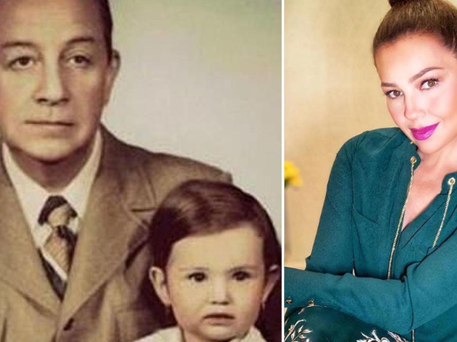 Thalía con su papá